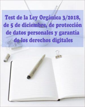 test ley orgánica 3/2018 de protección de datos