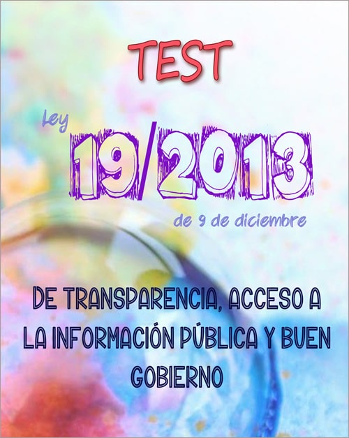 test ley 19/2013 de transparencia