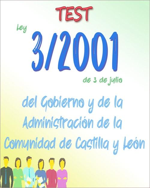 test ley 3/2001 gobierno y administracion castilla y leon PDF