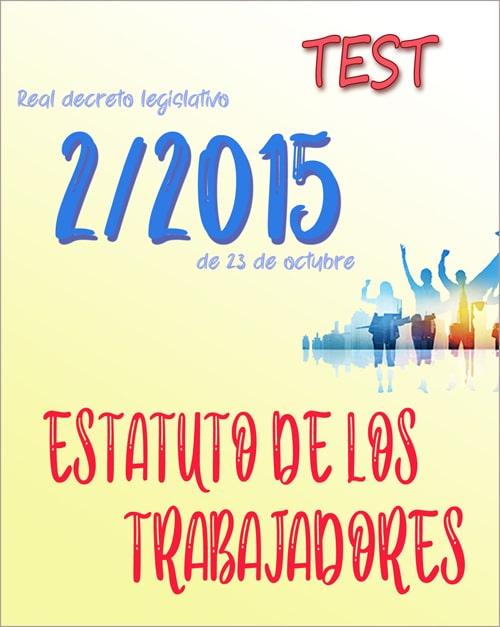 test estatuto trabajadores, real decreto legislativo 2/2015 (PDF)