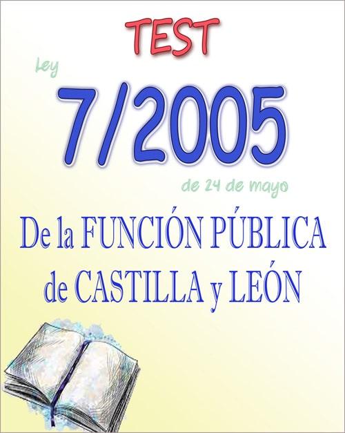 test ley 7/2005 función pública Castilla León JCyL PDF