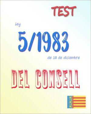 75 preguntas test Ley 5/1983, del Consell