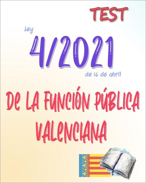 test Ley 4/2021 de la Función Pública Valenciana PDF