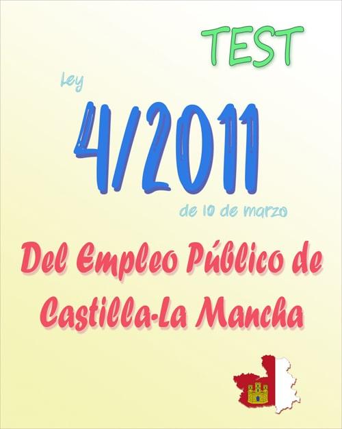 test Ley 4/2011, del Empleo Público de Castilla-La Mancha